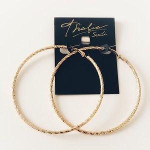 Thalia Sodi large hoop earrings